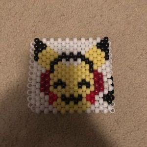 Other - Pikachu Listening to Music Handmade Kandi Cuff